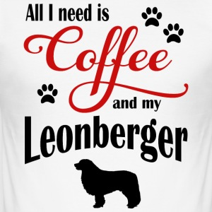Leonberger Kaffe - Slim Fit T-skjorte for menn