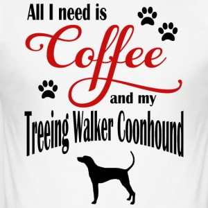 Treeing Walker Coonhound Coffee - Slim Fit T-shirt herr