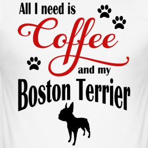 Boston Terrier Kaffe - Herre Slim Fit T-Shirt