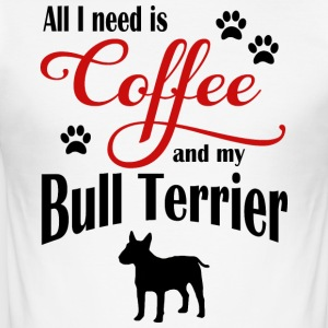 Bull Terrier Kaffe - Slim Fit T-skjorte for menn