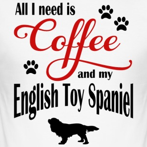 Engelsk Toy Spaniel Coffee - Slim Fit T-skjorte for menn