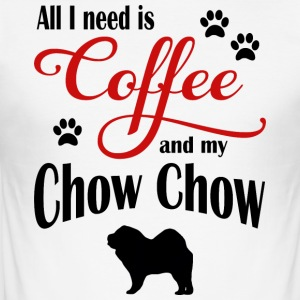 Chow Chow Coffee - Men's Slim Fit T-Shirt