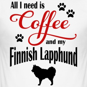 Finnish Lapphound Coffee - Men's Slim Fit T-Shirt