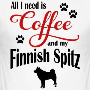 Finnish Spitz Coffee - Men's Slim Fit T-Shirt