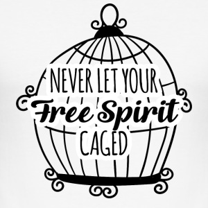 Hippie / Hippies: Never let your Free Spirit caged - Männer Slim Fit T-Shirt