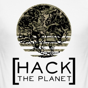 Hack planeten motto T-shirt Camouflage - Herre Slim Fit T-Shirt