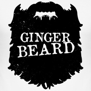 Mens Ginger Beard Mannen Club Bearded - bart - slim fit T-shirt