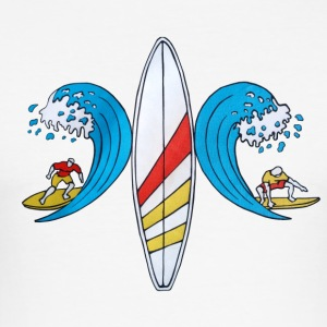 Surf Camp - Slim Fit T-shirt herr