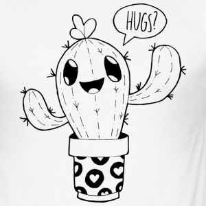 cactus Hugs - slim fit T-shirt