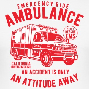 Ambulance Vehicle - Herre Slim Fit T-Shirt