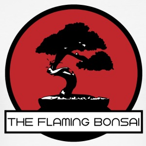 The Flaming Bonsai Final Company Logo - Men's Slim Fit T-Shirt