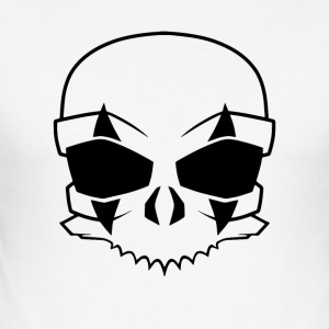 clownskull Black - Männer Slim Fit T-Shirt