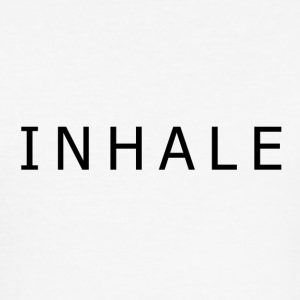 INHALE WHITE - Slim Fit T-skjorte for menn