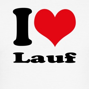 I love Lauf - Männer Slim Fit T-Shirt