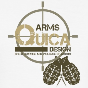 QUICK ARMS LOGO 2 - Men's Slim Fit T-Shirt