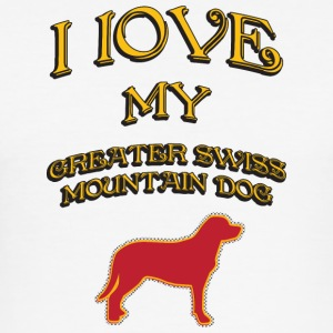 I LOVE MY DOG Greater Swiss Mountain Dog - Men's Slim Fit T-Shirt