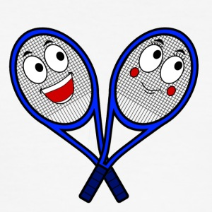 Cute Tennis Rackets - Men's Slim Fit T-Shirt