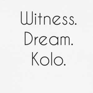 Witness. Dream. Kolo. - Slim Fit T-skjorte for menn