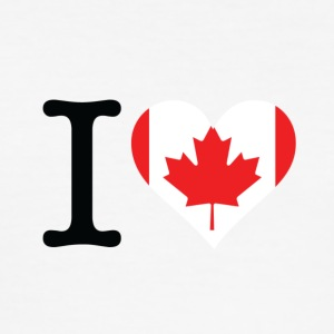 I Love Canada - Men's Slim Fit T-Shirt