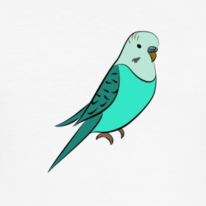 Budgie turquoise - Men's Slim Fit T-Shirt