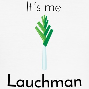 Leek: Lauchman [Black Edition] - Herre Slim Fit T-Shirt