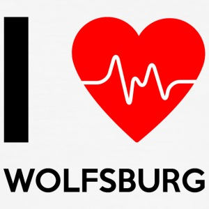I Love Wolfsburg - I Love Wolfsburg - Slim Fit T-skjorte for menn