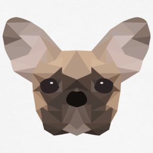 Fransk Bulldog Low Poly - Slim Fit T-skjorte for menn