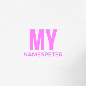 MYNAMESPEter - Männer Slim Fit T-Shirt