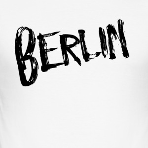 Berlin Svart - Slim Fit T-shirt herr