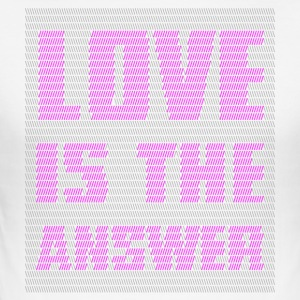 LOVE IS THE ANSWER - Men's Slim Fit T-Shirt