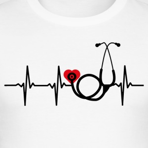 ++ ++ Nurse with heart - Men's Slim Fit T-Shirt