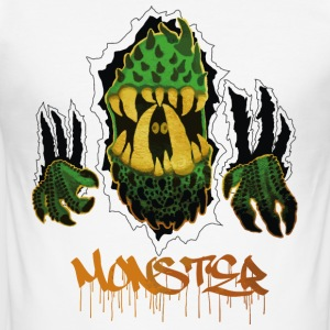 Grön Monster 2k - Slim Fit T-shirt herr