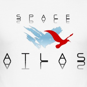 Space Atlas baseballutslags Red - Slim Fit T-shirt herr
