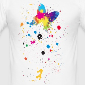 Spray Schmetterling - Männer Slim Fit T-Shirt