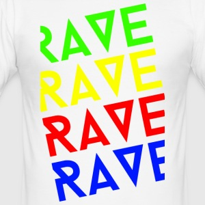rave rave rave - Slim Fit T-shirt herr