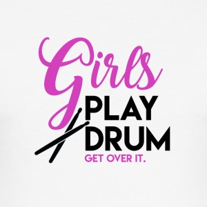 Drummer Girl - Drummer Passion - Men's Slim Fit T-Shirt