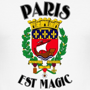 Paris Est Magic White - Tee shirt près du corps Homme