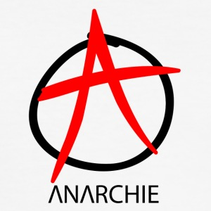 Anarchie Symbol - Männer Slim Fit T-Shirt