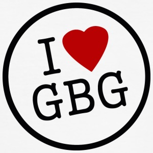 I Love Gbg - Slim Fit T-shirt herr