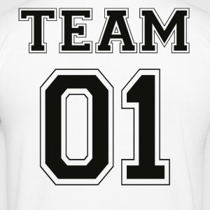 TEAM 01 - Black Edition - Men's Slim Fit T-Shirt