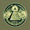 All seeing eye, pyramid, dollar, freemason, god - Men's Slim Fit T-Shirt
