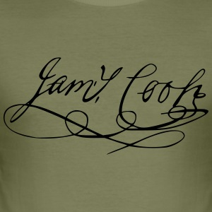 James Cook autograf - Herre Slim Fit T-Shirt