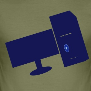 Computer - Männer Slim Fit T-Shirt