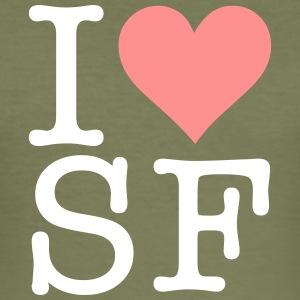 Jeg elsker San Francisco! - Slim Fit T-skjorte for menn