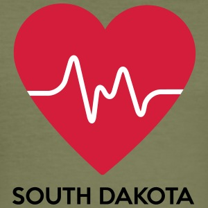 Heart South Dakota - Herre Slim Fit T-Shirt