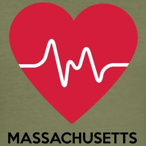 heart Massachusetts - Men's Slim Fit T-Shirt