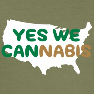Yes We Cannabis! - Men's Slim Fit T-Shirt