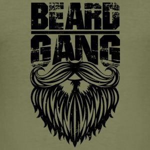 beard gang black - Men's Slim Fit T-Shirt