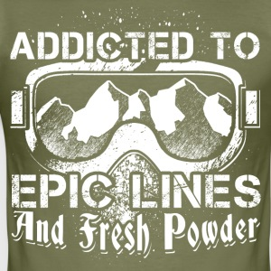 Addicted to skiing - Men's Slim Fit T-Shirt