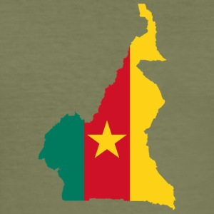 Cameroon map - Men's Slim Fit T-Shirt